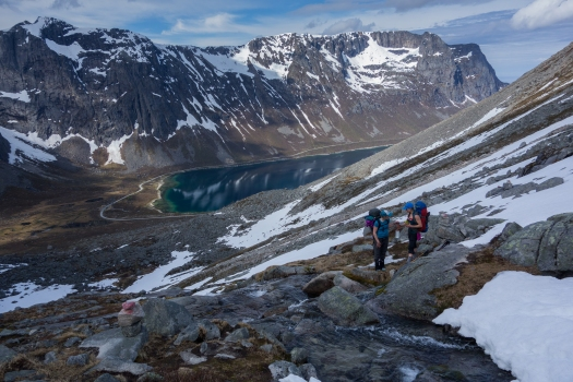 For anyone who seeks beautiful views, Kvaløya offers many established trails and top tours. Photo by Rami Valonen